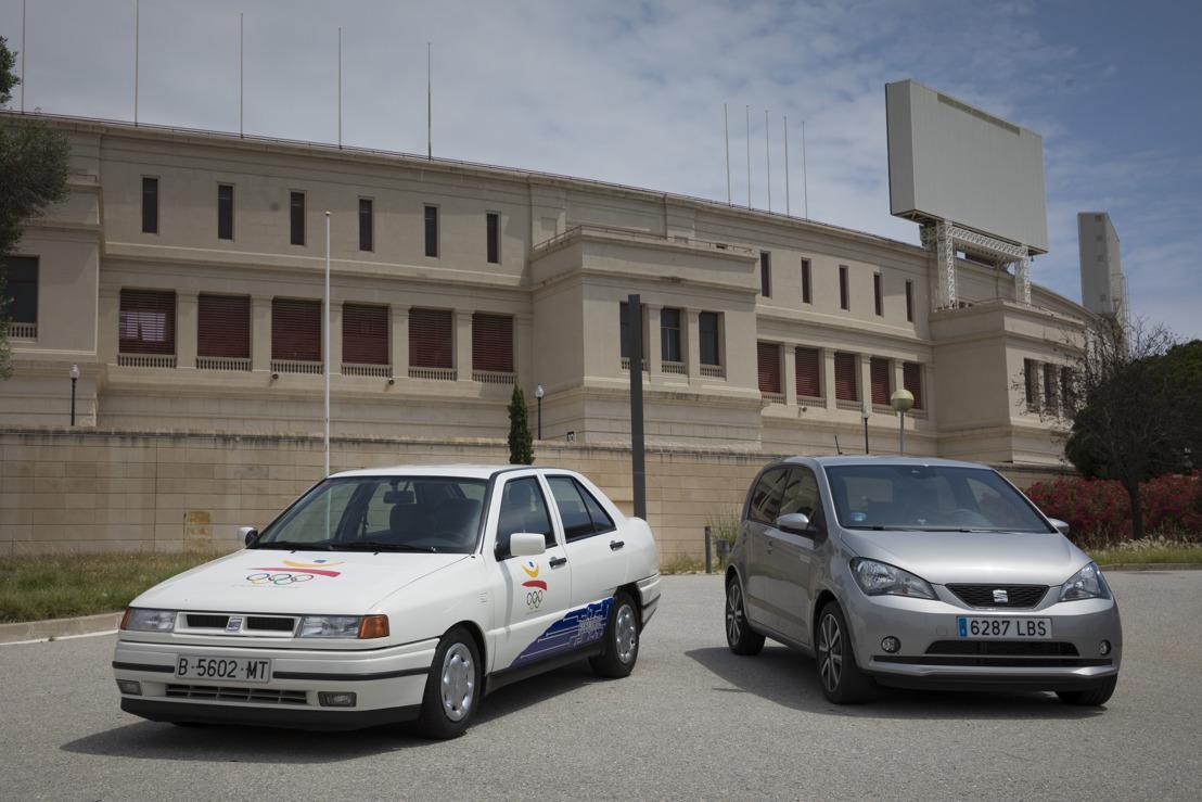 Des voitures électriques sur le Montjuïc