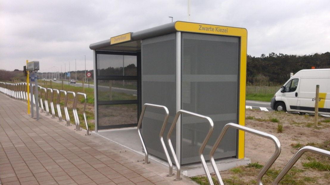 Een vandalismebestendig schuilhuisje in De Haan.