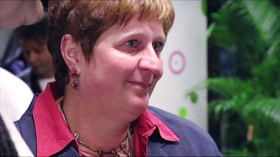 Mieke Vogels na de verkiezingsnederlaag - (c) VRT