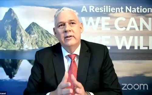 Saint Lucia's Prime Minister leads WEF Davos Agenda Special Event on Small Island Developing States
