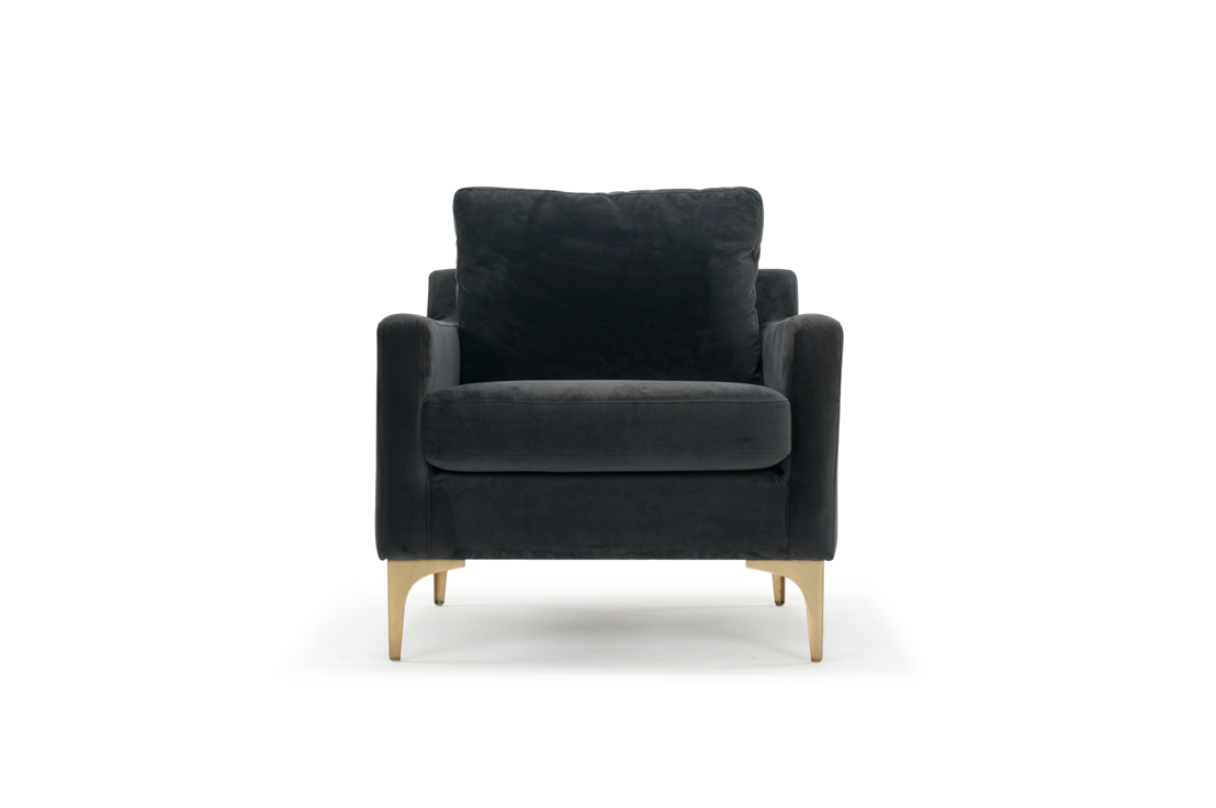 Astha chair - Velour Dark Grey