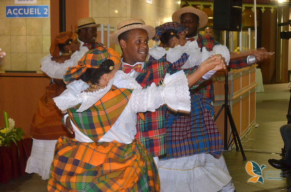 Dancers from Martinique put on a welcoming show for the delegates.