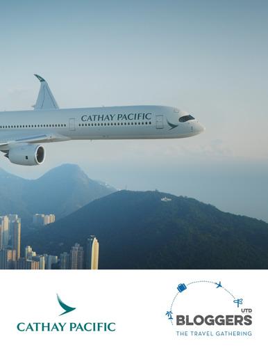 Partenaire premium de #BLOGGERSUTD : Cathay Pacific Airways