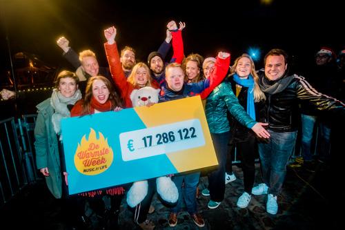 De Warmste Week ooit brengt 17 286 122 euro op voor 1986 goede doelen