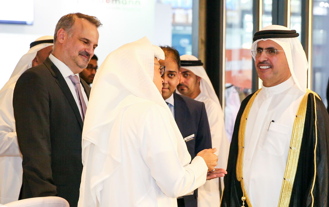 H.E. Saeed Mohammed Al Tayer, Managing Director and CEO of DEWA, inaugurating the events on September 25, 2017