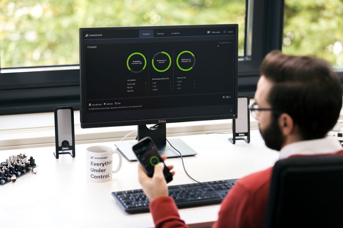 Sennheiser Control Cockpit software saves IT teams' time, cost and effort, allowing them to centrally manage campus-wide microphone installations