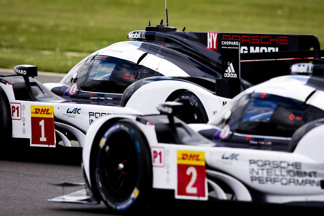 Porsche 919 Hybrid, Porsche Team: Timo Bernhard, Brendon Hartley, Mark Webber; Porsche 919 Hybrid, Porsche Team: Romain Dumas, Neel Jani, Marc Lieb