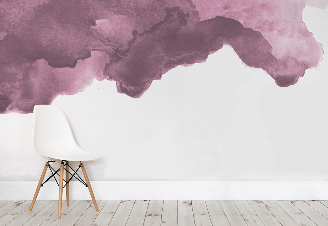 Dusky Purple Watercolour - Simple