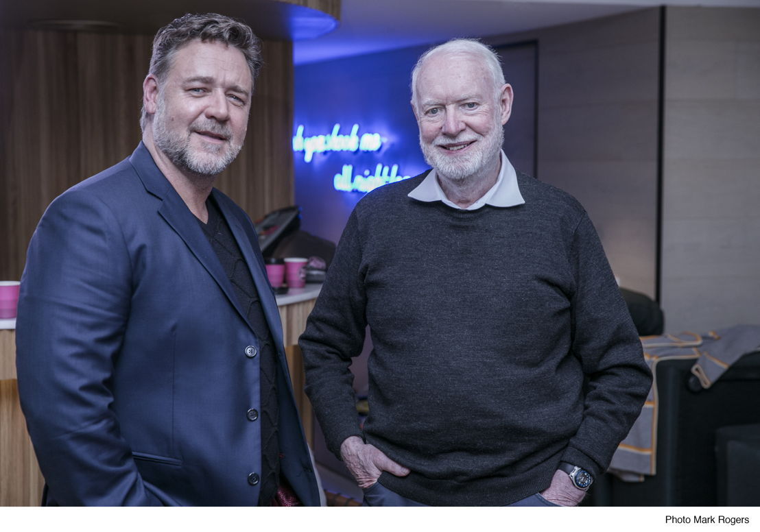Actor Russell Crowe and David Stratton.