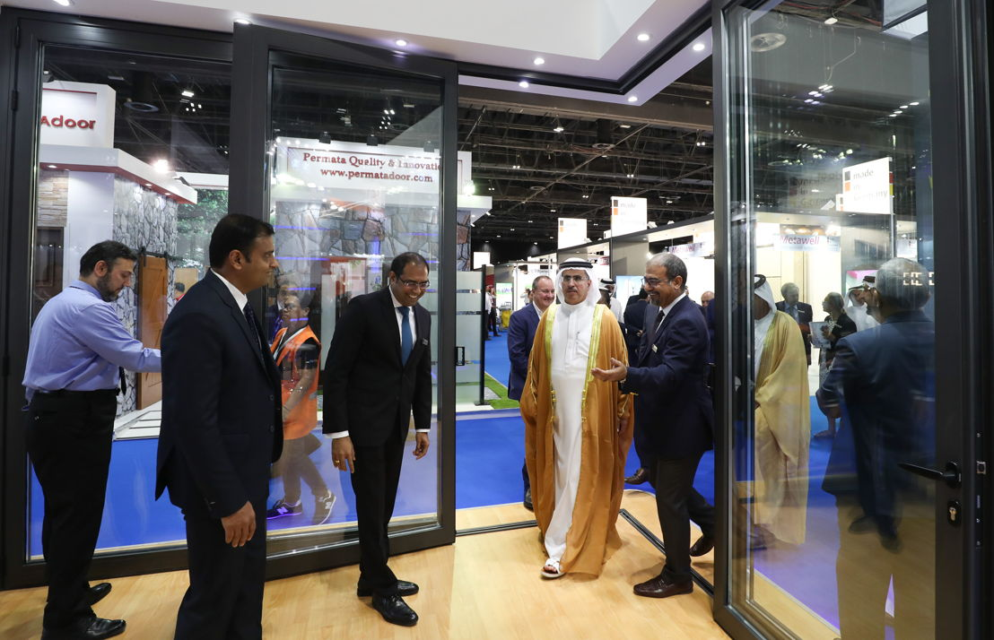 HE Saeed Mohammed Al Tayer, MD & CEO of Dubai Electricity and Water Authority (DEWA),  the third edition of Windows Doors & Facades (WDF) inaugurating the