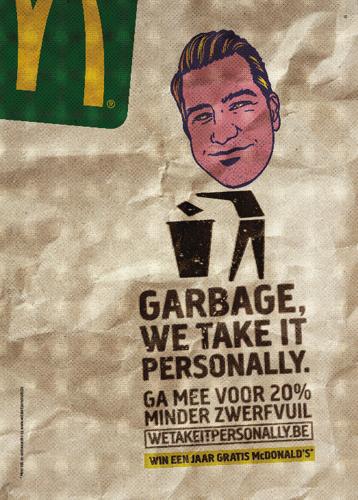 McDonald's en TBWA lanceren de meest gepersonaliseerde zwerfvuilcampagne :