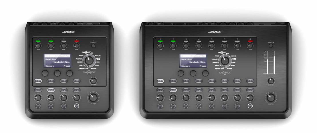 Bose Profesional presenta las mezcladoras estéreo T8S y T4S ToneMatch®