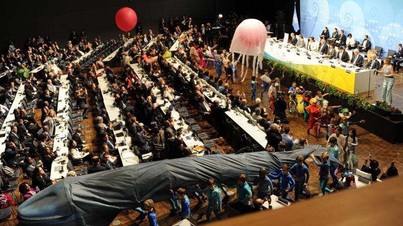 Children's parade at the Opening Ceremony of COP 23.