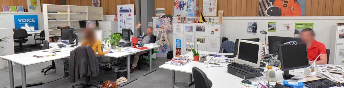 Voice: eerste Belgische communicatiebureau virtueel te bezoeken met Google Street View