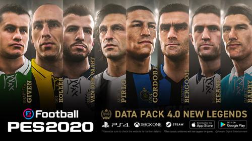 DATA PACK 4.0 für eFootball PES 2020 AB SOFORT VERFÜGBAR
