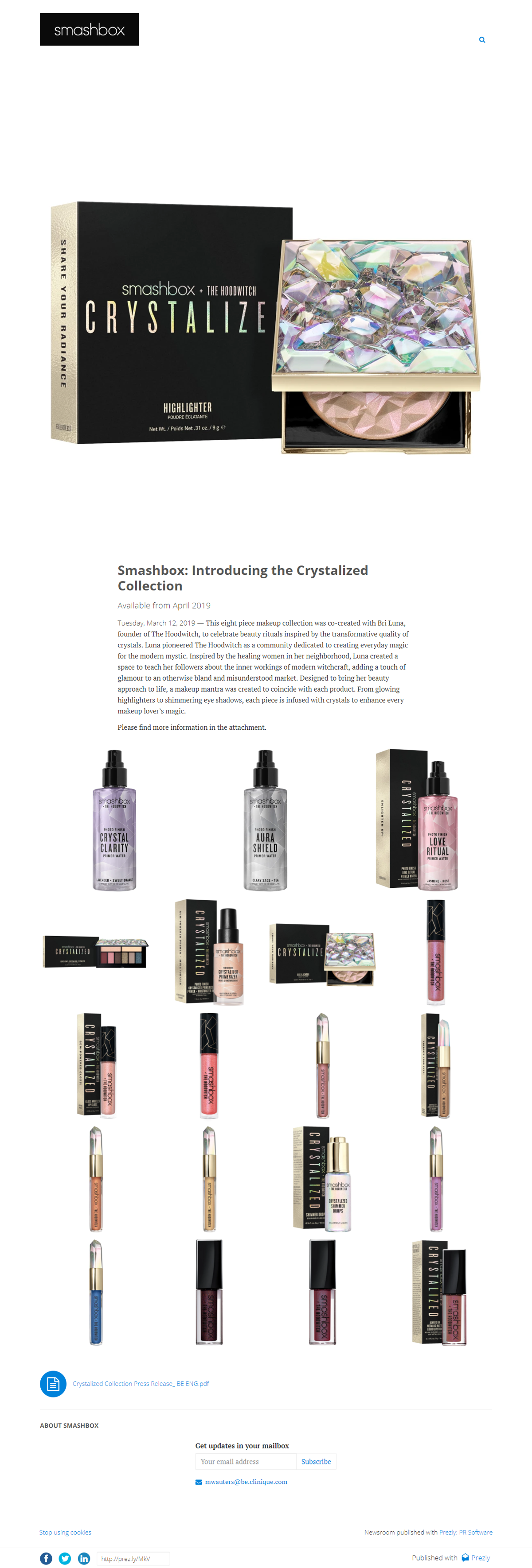 Smashbox: Introducing the Crystalized Collection
