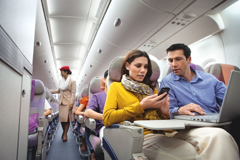 the experiences of travelling on long flights to the emirates