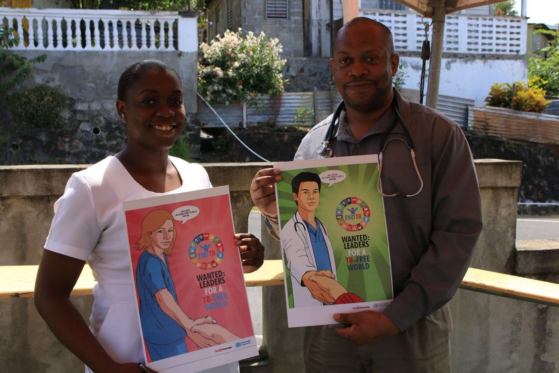 Sensitization campaign in Anse La Raye on World Tuberculosis Day - March 2018