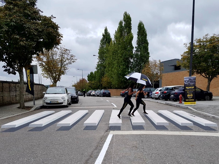 Preview: Monroe® Brand using 3D Pedestrian Crossings to Educate Drivers on Importance of Replacing Worn Shocks