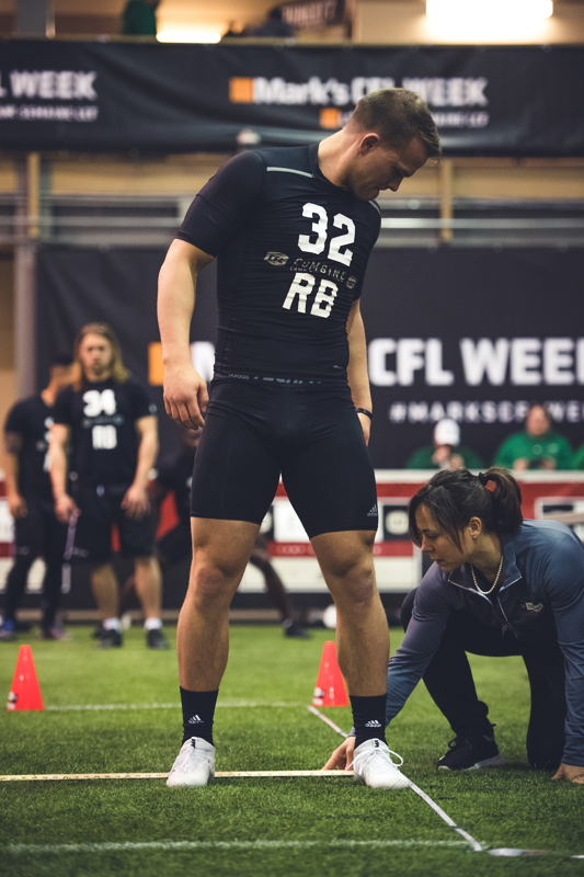 Jonah Pataki at the CFL Combine presented by adidas. Photo credit: Johany Jutras/CFL