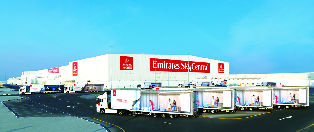 A fleet of 49 trucks connect the two Emirates SkyCentral terminals in DXB and DWC effectively making them one integrated hub.