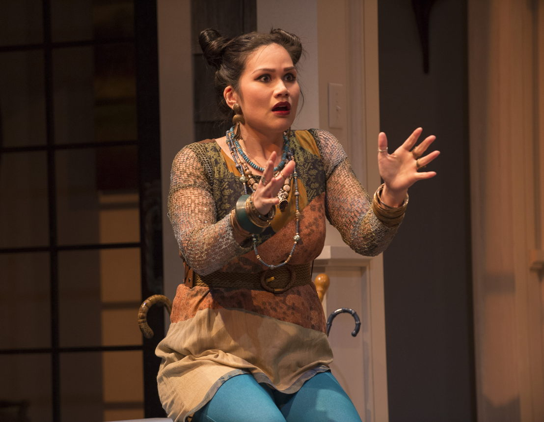 Carmela Sison in Vanya and Sonia and Masha and Spike by Christopher Durang / Photos by David Cooper