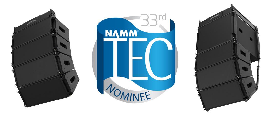 El sistema de arreglo lineal de altavoces ShowMatch DeltaQ de Bose Profesional es nominado a un TEC Award