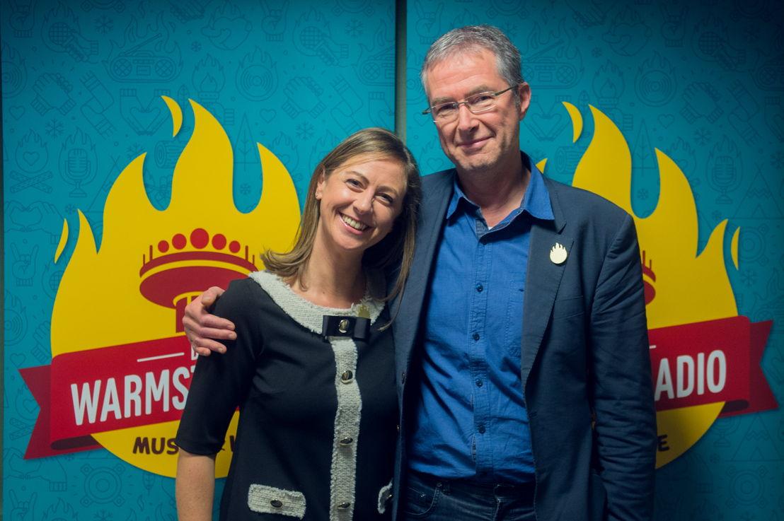 Kim Debrie (Radio 2) & Jan Hautekiet (Radio 1) - (c) VRT/Jokko