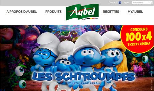 there schtroumpfe un concours et une nouvelle plateforme en ligne pour Aubel