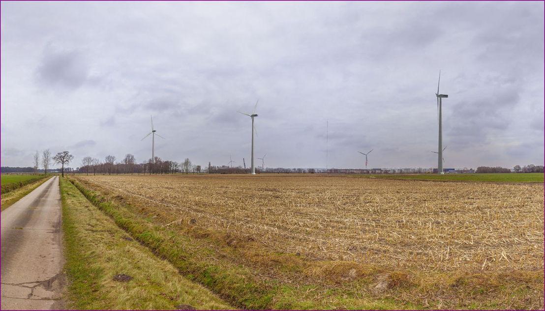 Visualisatie van hoe het windpark er zal uitzien na oplevering.