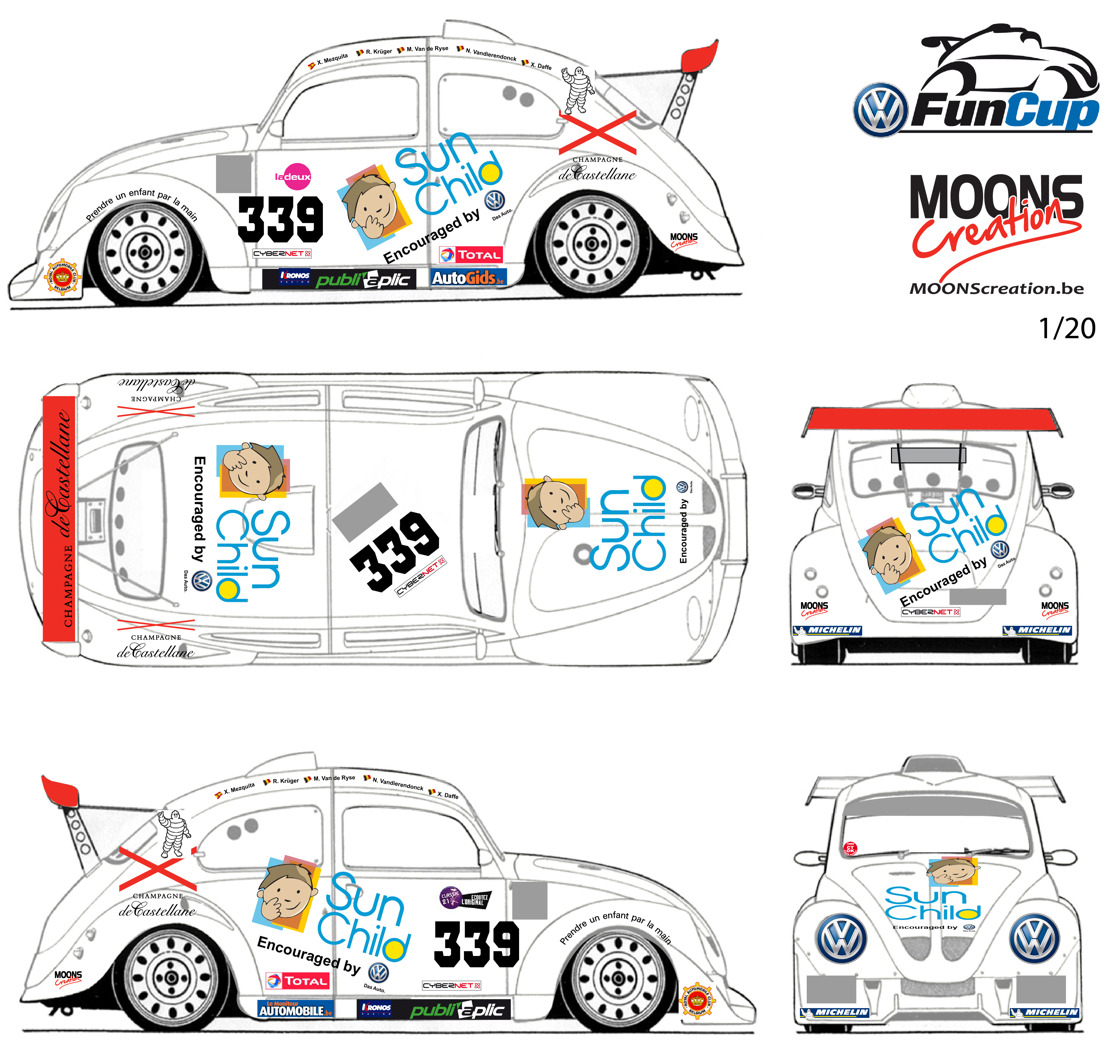 Une VW Fun Cup aux couleurs de Sun Child
