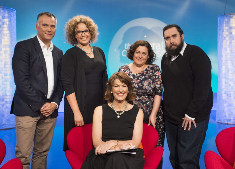 The Moral Compass - Cleverman special L-R Stan Grant, Leah Purcell, Geraldine Doogue, Dr Frances Wyld, Ryan Griffen.