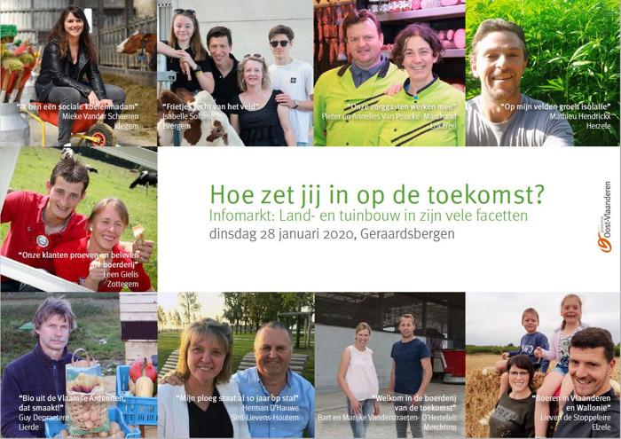 Provincie Oost-Vlaanderen informeert en inspireert land- en tuinbouwers over toekomstmogelijkheden voor hun bedrijf