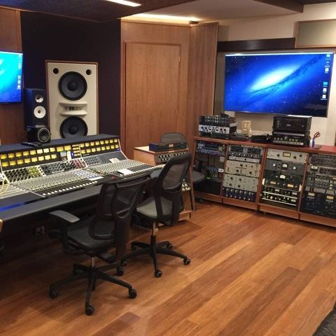 Mad Oak Studios API 1608 32 Console and extensive gear arsenal. Photo PK Pandey