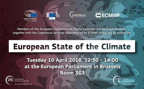 Preview: Copernicus presents the European State of the Climate at EU Parliament