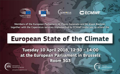 Copernicus presents the European State of the Climate at EU Parliament