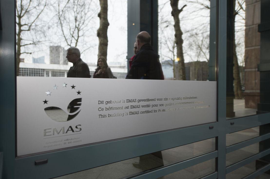 EMAS-label op de voorgevel