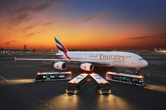 Emirates invests in latest bus fleet to enhance on-ground comfort for Economy Class passengers