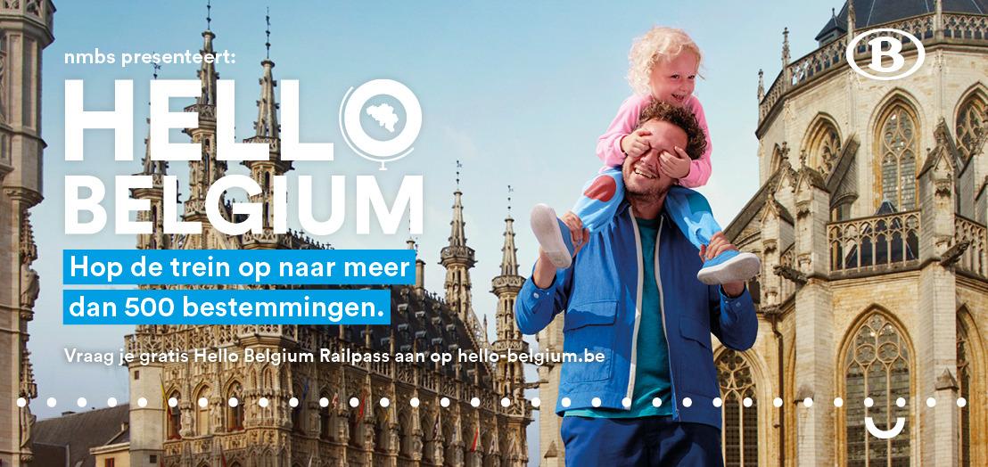 Lancering 'Hello Belgium Railpass', de gratis treinkaart met twaalf treinritten