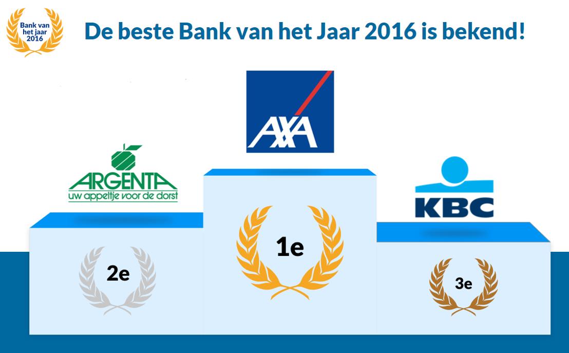 AXA Bank verkozen tot bank van het jaar 2016
