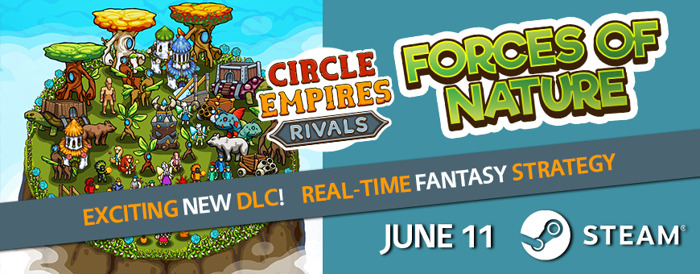 Circle Empires Rivals Faces the Forces of Nature in New DLC TODAY!