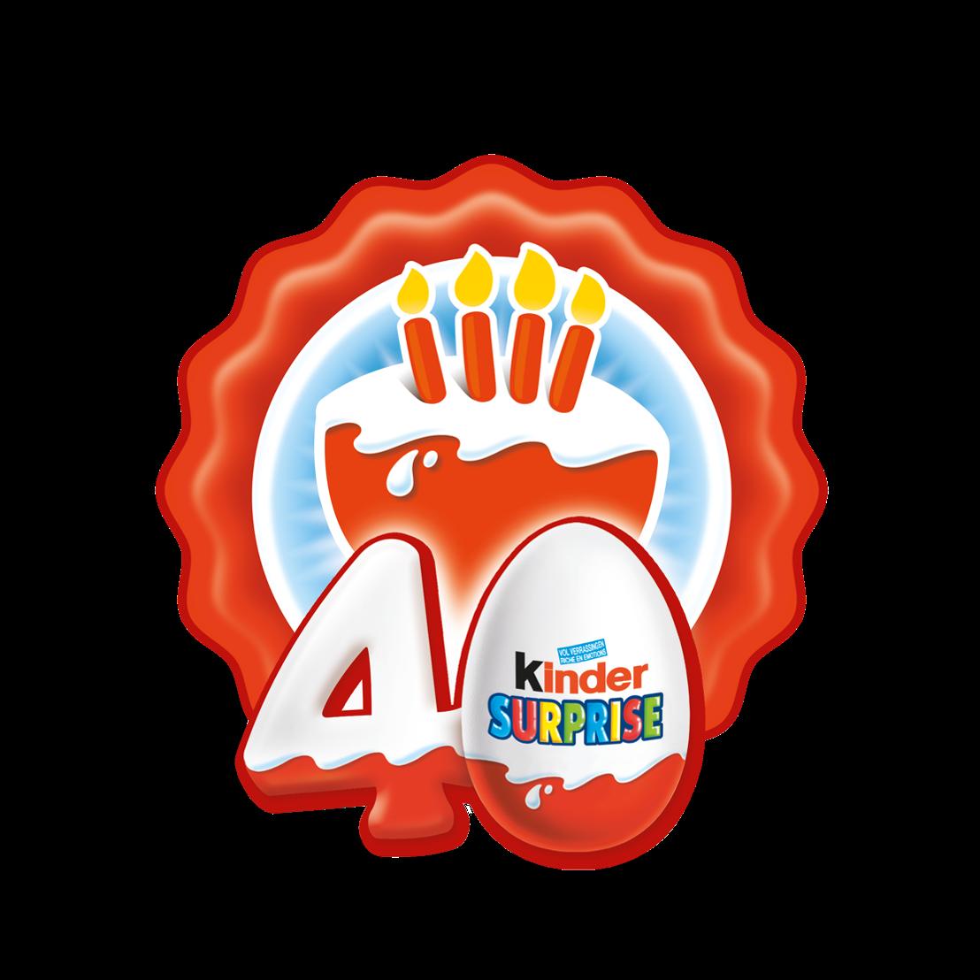 Logo Kinder Surprise 40 jaar