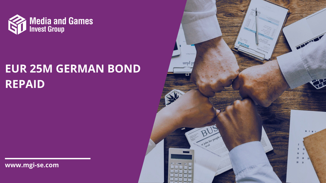 Media and Games Invest SE today repaid its 25m EUR unsecured German bond due 2024 ahead of schedule