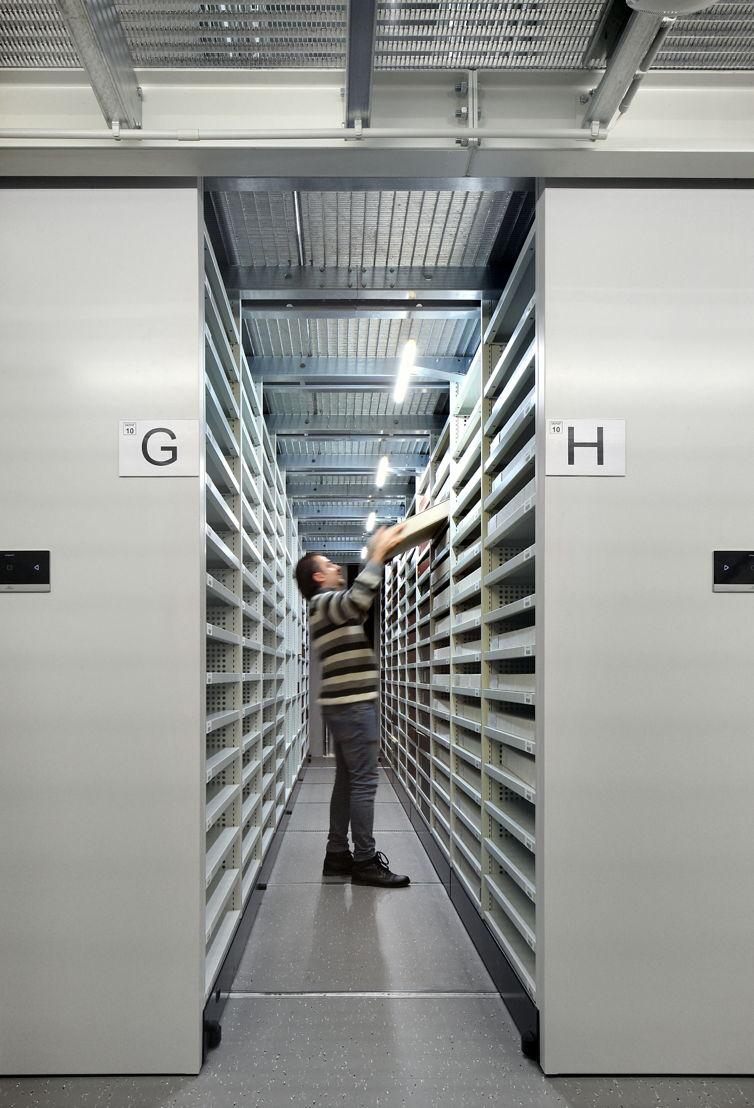 New storage room,  Plantin-Moretus, photo: Filip Dujardin