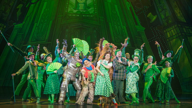 """The Company of The Wizard of Oz in """"Merry Old Land of Oz""""<br/>Photo credit: DANIEL A. SWALEC"""