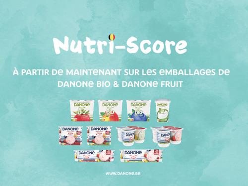 Preview: Premiers emballages Danone avec le Nutri-Score déjà dans les magasins à partir du mois d'avril