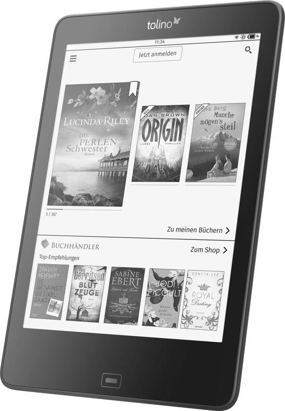 tolino präsentiert auf der Frankfurter Buchmesse einen neuen eReader mit mehr Raum für Geschichten: 7,8 Zoll-Display bietet maximales Lesevergnügen.