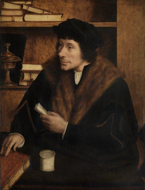 Op zoek naar Utopia © Quinten Metsys, Portret van Pieter Gillis, 1517. Koninklijk Museum voor Schone Kunsten, Antwerpen
