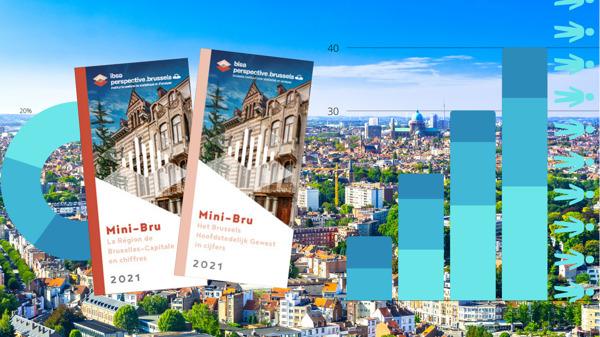 Preview: Mini-Bru 2021 borstelt cijferportret van Brussels Gewest