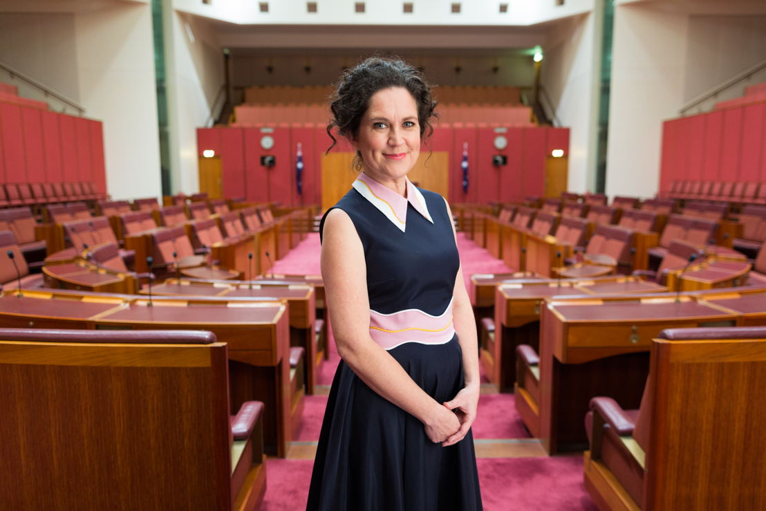 Annabel in The Senate Chamber. Photo by Josh Flavell.